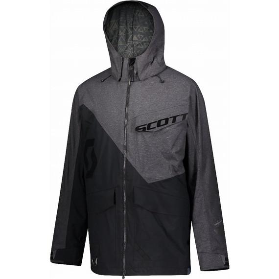 Scott XT Shell Dryo Non-Insulated Jacket (Black/Melange Grey)