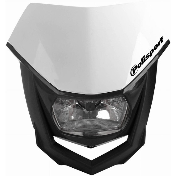 Polisport Dirt Bike Halo Headlight (White/Black)