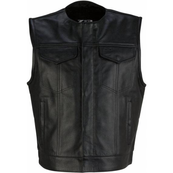 Z1R Ganja Leather Vest (Black)