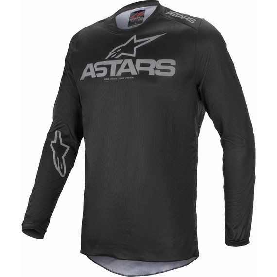 Alpinestars Fluid Graphite Jersey (Black/Dark Gray)