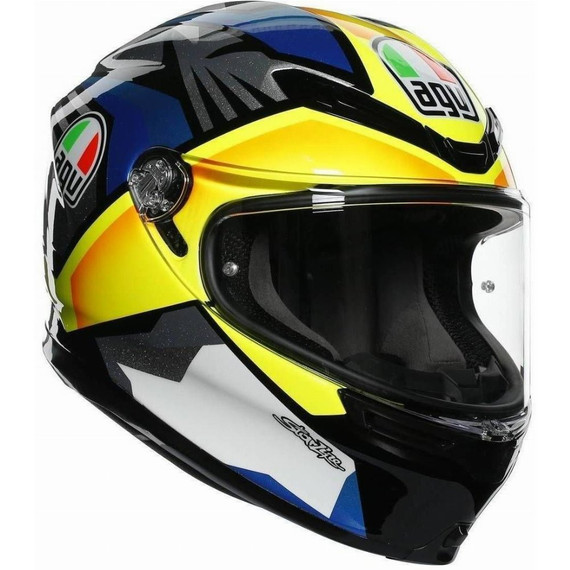 AGV K6 Joan Helmet (Black/Blue/Yellow)