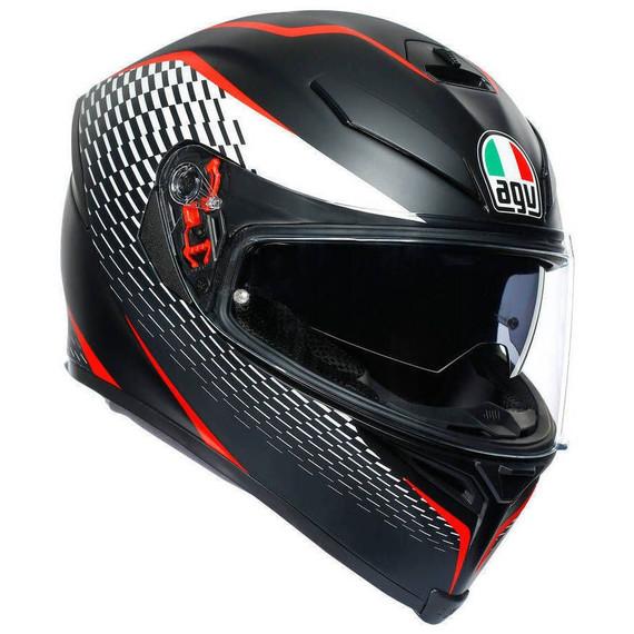 AGV K5 S Thunder Helmet (Matte Black/White/Red)