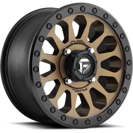 Fuel D600 Vector Wheel (Matte Bronze w/Black Ring)