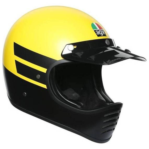 AGV X101 Dust Helmet (Matte Yellow/Black)