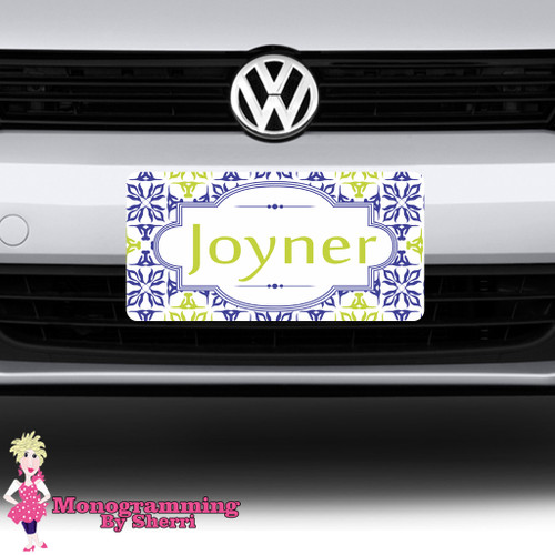 Geo Flower Name License Plate