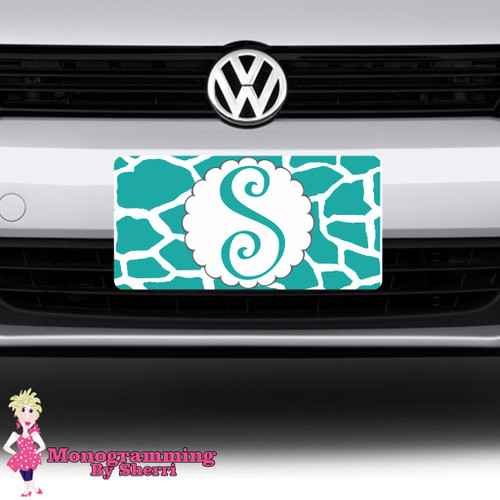 Giraffe Initial License Plate