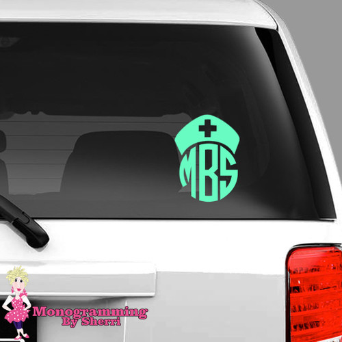 Nurse Hat Car Decal FREE SHIPPING