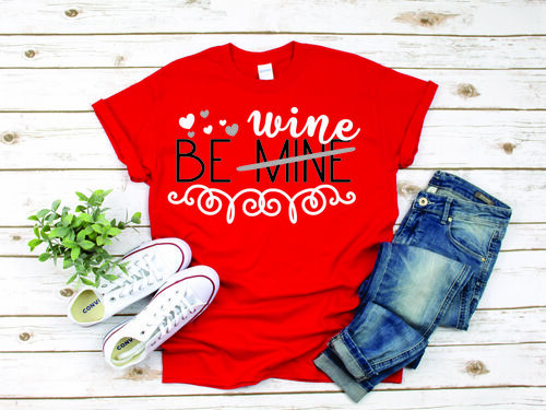 Be Wine sounds like sooo much fun!  Your choice of tee shirt colors and we will coordinate the digital colors for you!  Show your love for Valentines, I mean wine!  We use unisex shirts so they are not fitted.