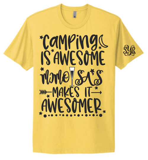 ALL OUR FRIENDS LOVE CAMPING AND ASKED FOR SOME COOL SHIRTS!  WE HAVE LOTS TO CHOOSE FROM! Our beautiful screen printed tee tells your story!! Our tees are unisex and are true to size.  Yellow is the hot new color for 2021!