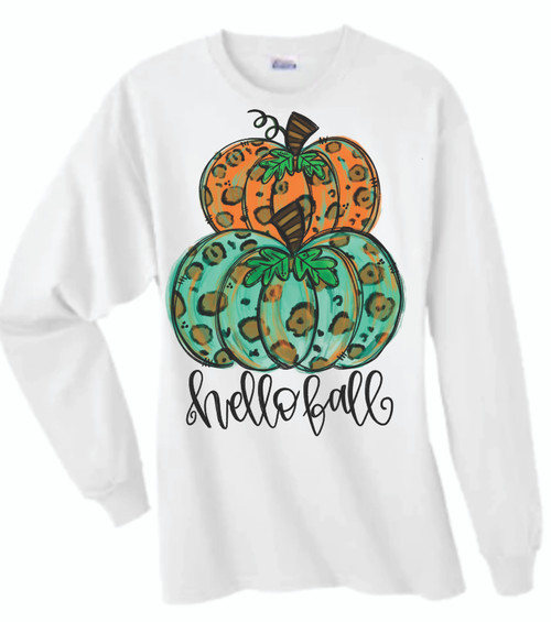 HAPPY FALL!  This is a digitally imprinted and is printed on a white, silver, or heather gray shirt unisex long sleeve shirt. These shirts are not fitted and run true to size.!  Purchase shirt and Face mask and get a Free Mask Germ away lanyard!