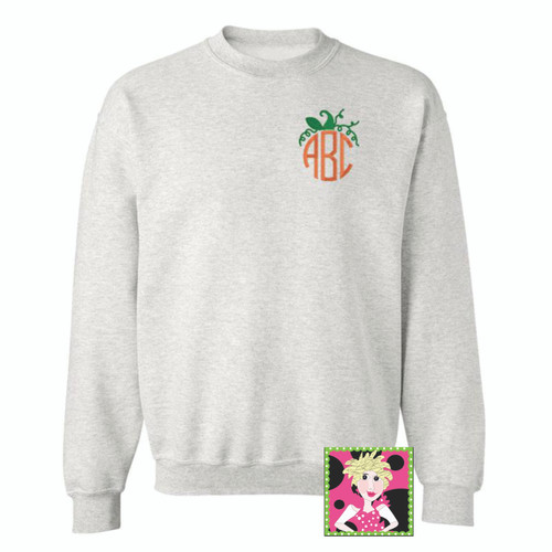 Pumpkin Monogrammed Sweatshirt Personalized for you!
