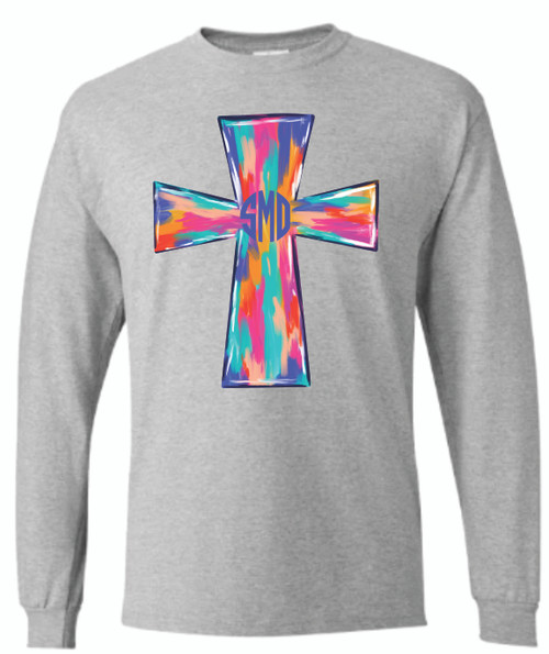 Blessings!! Show your faith with one of our multi color cross with your initials.  This shirt is soft as butter and is unisex and runs true to size.