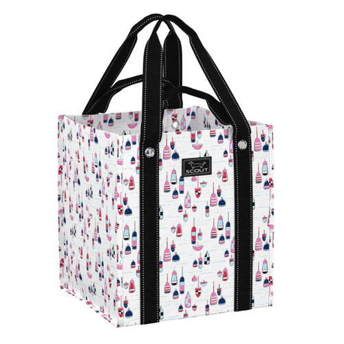 Overheard in the checkout line: ?It holds so much more than I thought!? No double bagging necessary; this grocery tote was built to be dependable. Opens to an extra roomy size and folds flat for easy storage.