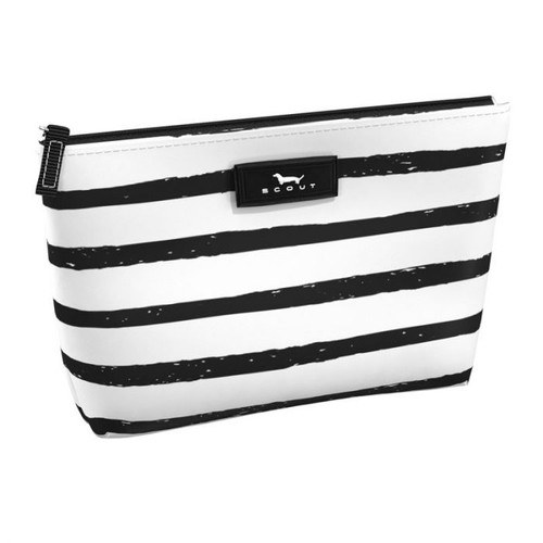 This slim pouch is ideal for keeping small things organized inside your larger bag.