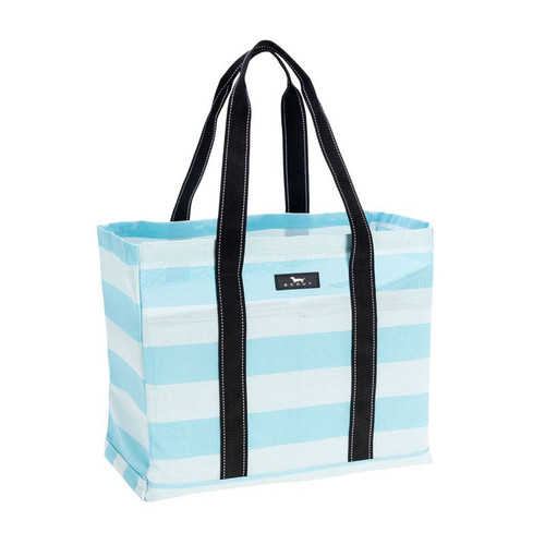 A poly woven version of our Original Deano, this open top tote will be your family?s go-to bag all summer long. Sand and water can easily escape through the breathable, compact basket weave fabric, and the structured bottom keeps this stylishly striped bag upright even when empty for easy loading.  BEST BAG FOR THE LAKE, BEACH OR POOL!!!!