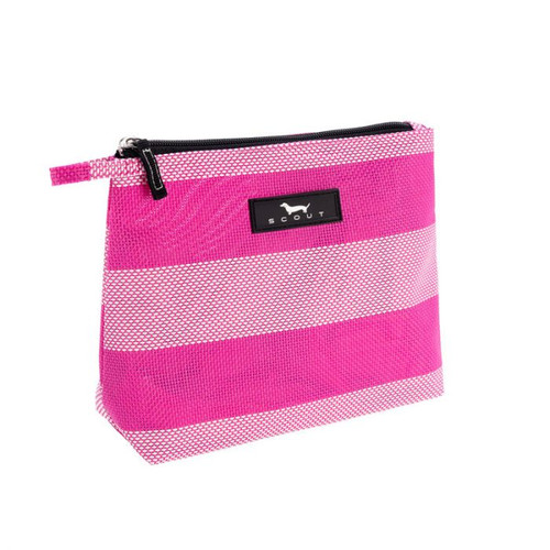 The perfect pouch to grab and go all summer long?made out of our newest poly woven fabric that?s super breathable. Tough and durable, yet smooth and flexible, the compact basket weave material gives sand and water an easy escape route. Great on its own or tossed inside a larger bag.