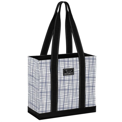 This simple, small tote has an open top and an interior zipper pocket. The structured design stands up on its own and is perfect for small grocery trips, carrying books to class, or toting road trip essentials. Lengthy straps offer comfortable carrying, even when the bag is full.