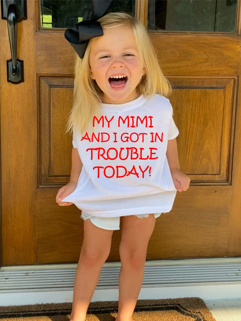 OUR FUN INFANT AND TODDLER TEES ARE SOFT, TRUE TO SIZE, A SCREEN PRINTED OR DIGITALLY IMPRINTED TO PERFECTION! I KNOW A FEW OF USE THAT COULD BE TROUBLE MAKERS!!