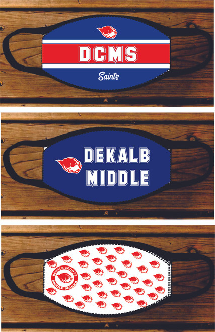 DEKALB COUNTY MIDDLE SCHOOL FACE MASK 3 CHOICES