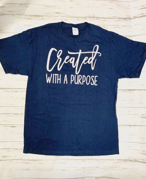 CREATED BY GOD!! Be still and Know! Be proud to show off your faith with a stylish flair!  Soft as butter tees that you will want to wear everyday! This is a digitally imprinted. These shirts are not fitted and run true to size.