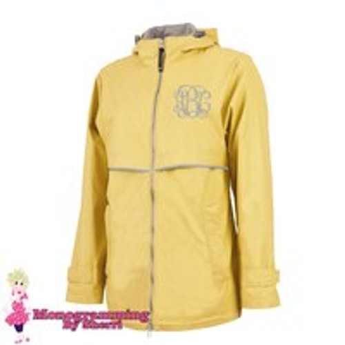 Women's Charles River New Englander Rain Jacket (Buttercup)