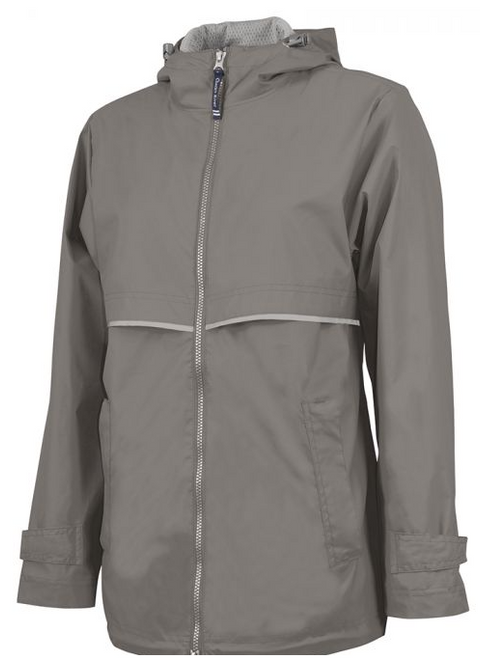 Women's Charles River New Englander Rain Jacket (grey)
