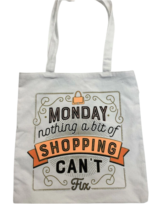 FUNNY SHOPPING TOTE