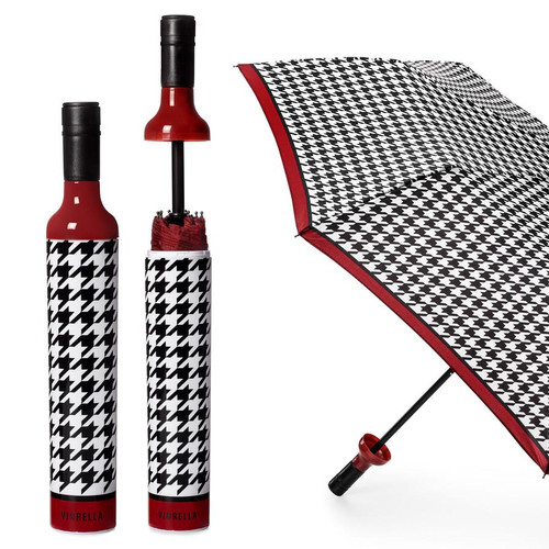 RED,BLACK, & WHITE BOTTLE UMBRELLA
