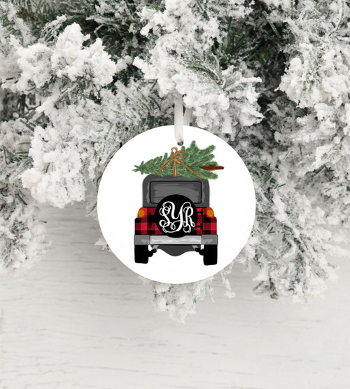 Custom made for you with your Initials!  This will look so cute with your initials on your Christmas tree!  What a great gift too!  Personalization shows you care!