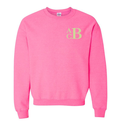 A Classic Staple of any Monogram Collection- this cute, cozy, comfortable & classy crewneck sweatshirt will be part of your life all seasons of the year. Personalize to make it Perfect for You