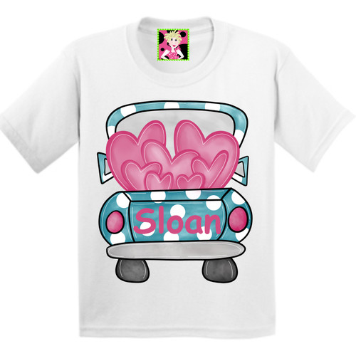 Valentines Loveable!  Extra special with your name!    This is a digitally imprinted and is printed on a white, silver, or heather gray shirt unisex long sleeve shirt. These shirts are not fitted and run true to size.!  This shirt is also available in Long Sleeve.  Just give us a call at 615-305-6432.