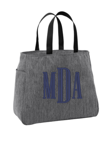 This 'Cabana' Tote bag with your Monograms comes in such a great selection of Summer Colors!