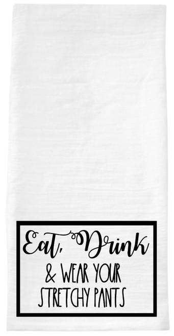 Have some fun in your Kitchen!  I always get people laughing with one of our hand towels in the kitchen!  These are high quality waffle weave or oversized flour sack towels that are digitally imprinted (not heat press vinyl) and made here in Smithville, Tennessee, USA.