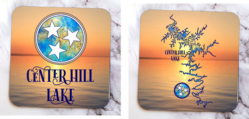 LOVE ME SOM CENTER HILL LAKE!  PERFECT FOR HOME, LAKE HOUSE OR HOUSEBOAT!  KEEP THINGS CLEAN AND NEAT AND SHOW OFF YOUR LOVE FOR THE LAKE!   3.75 x 3.75 Maple Wood Coaster - Image is permanent, not vinyl - Footed with high end, no slip bumpers - Individually made and cut - Made in USA