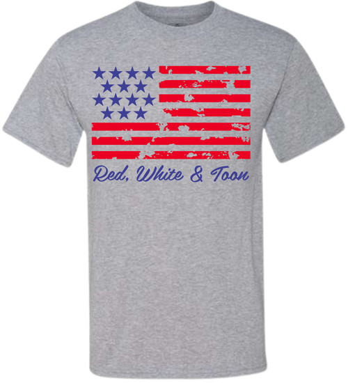 Just in time for the 4th of July, this brand new tee will let you show off your American pride! Featuring white lettering and two stars, this shirt is perfect for all of your backyard events and neighborhood block parties! The material is lightweight and so easy to throw on for an afternoon of relaxing! Just pair it with shorts and sandals before you head out - you'll be the star of every 4th of July party in this shirt!