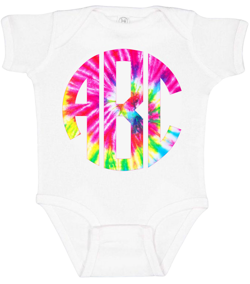 Spread Peace & Love in this Infant 'Tie Dye Big (Not that big) Print' Onesie for your Cute Little one