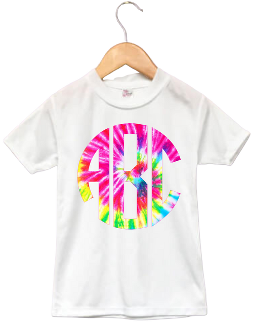 Spread Peace & Love in this Toddler 'Tie Dye Big (Not that big) Print' Tee shirt for your Cute Little one.  Get your whole family one!