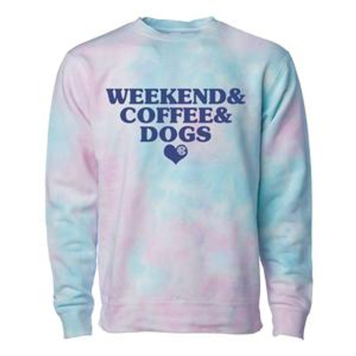 A Perfect Weekend includes Coffee, Your Dog, and this Tie Dye Sweatshirt :) You're Never Fully Dressed without a Monogram✌