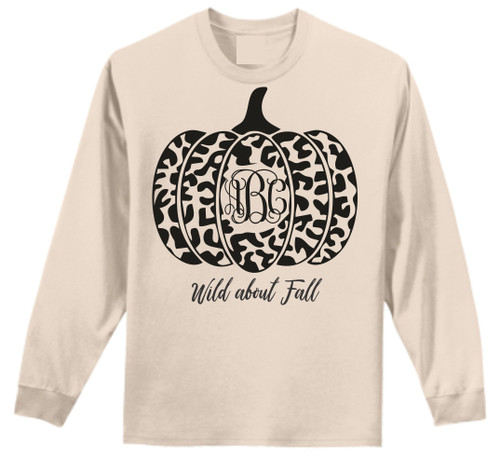 I LOVE Fall!  Perfect time to show off your monogram too!!