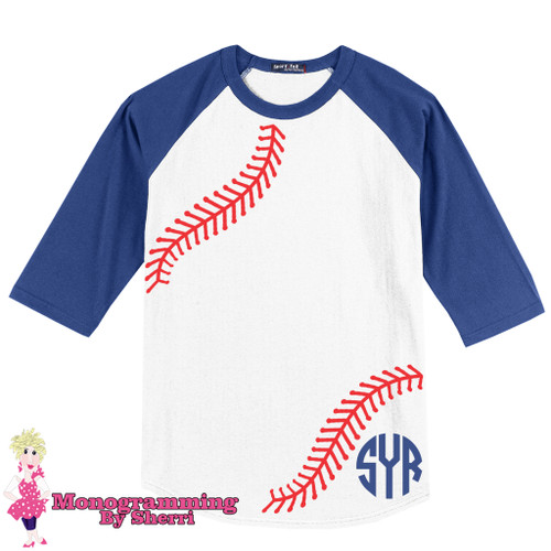 Soft as butter true baseball tees! 3/4 length sleeves and your monogram! Who could ask for more?