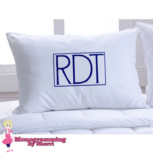 Pillowcase Mens Initials