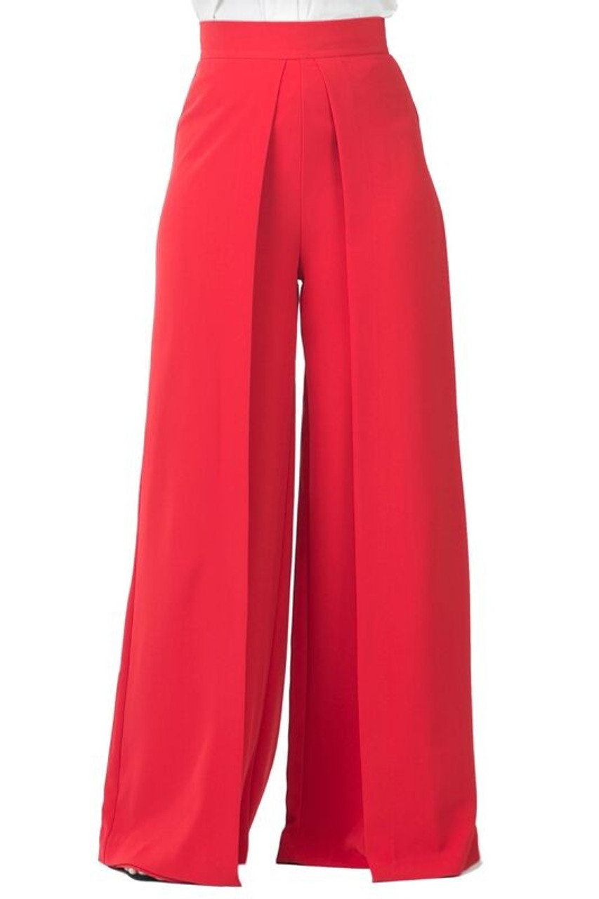 5bd612a11f CQbyCQ Front Wide Pleat Palazzo Pant - STYLE by Turn Her Style