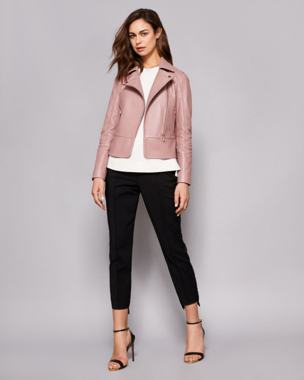 a3e7e5b8d836 Ted Baker LIZIA Leather Biker Jacket - STYLE by Turn Her Style