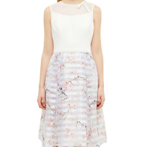 Ted Baker MONAH Oriental Blossom Contrast Dress