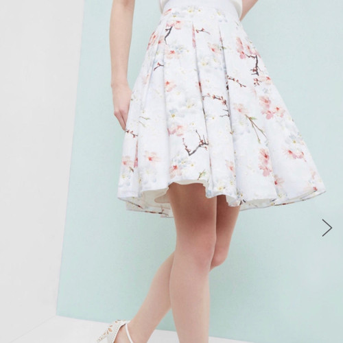 Ted Baker TILLYE  Pleated Oriental Blossom Layered Skirt