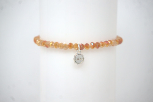 "10000620 LIZAS Bracelet ""Knoxville"" dark orange small bead"