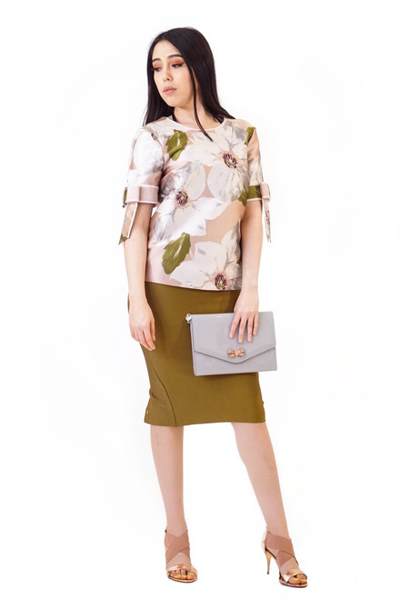 Ted Baker CAYTEY Chatsworth Bloom Bow Sleeve Top