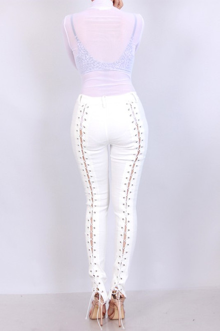 Stay Chic Lace Up Super Stretch Jegging
