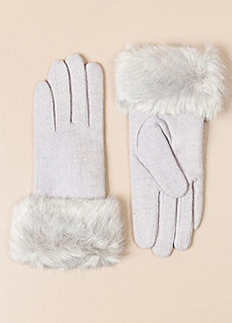 Pia Rossini MONROE Glove with Faux Fur Trim
