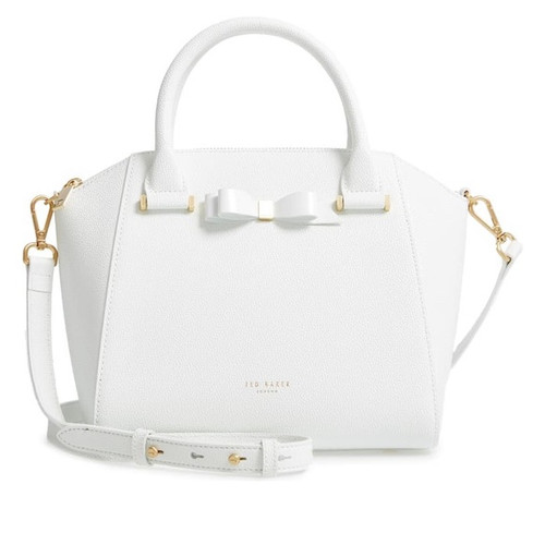 Ted Baker Bow Detail ZIP Tote Janne White